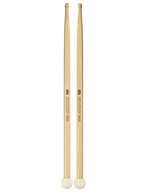 MEINL Stick & Brush Switch Stick 5A Hybrid Wood Tip Drumstick Mallet Combo