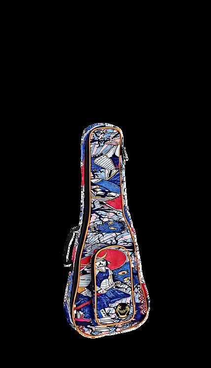 KEIKI Gigbag für Tenor Ukulelen mit Schultergurten Samurai