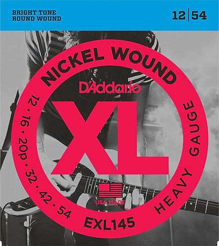 D'Addario Satz Nickelsaiten für 012' - 054' Heavy
