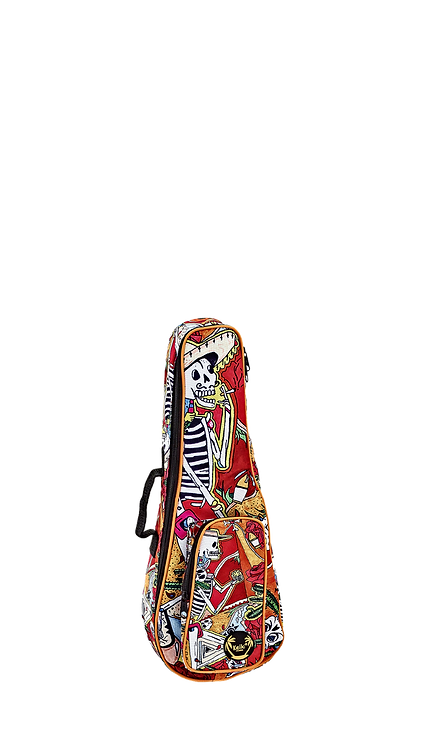 KEIKI Gigbag für Sopran Ukulelen mit Schultergurten El Muerto