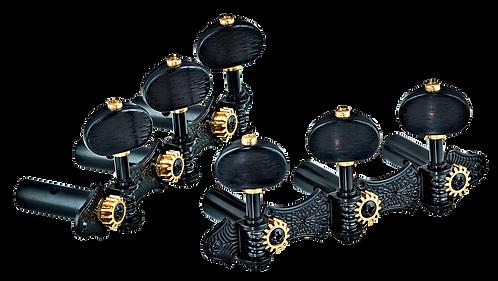 ORTEGA Classic Stimmmechaniken Set schwarz/schwarz Deluxe