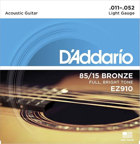 D'Addario Saiten für Akustikgitarre 85/15 Bronze, Light, 11-52