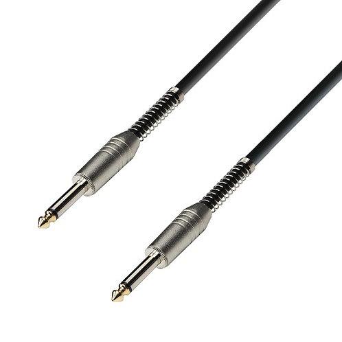 Adam Hall Instrumentenkabel 6,3 mm Klinke mono auf 6,3 mm Klinke mono 3 m