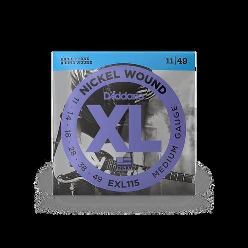 D'Addario EXL115 Saiten für E-Gitarre, mit Nickel umsponnen, Blues-Jazz Rock