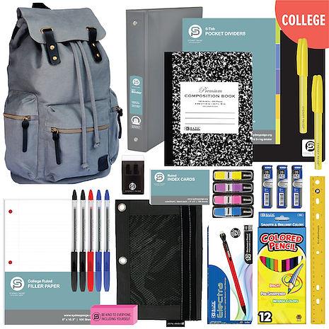 2019 Backpacks + School Supplies-College