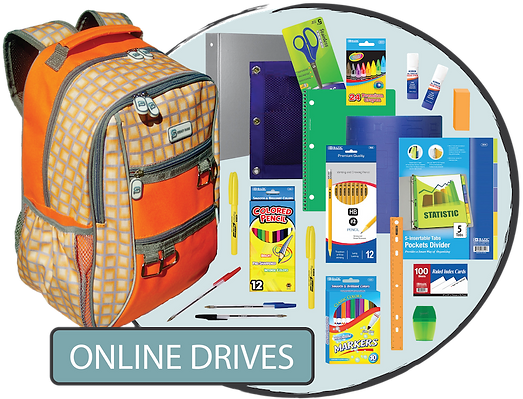Online Backpack + School Supply Drives -