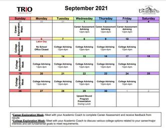 Upward Bound Updates September 2021