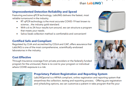 Updated LabLINQ COVID-19 Program