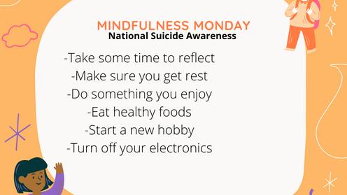 Mindful Monday - Suicide Awareness