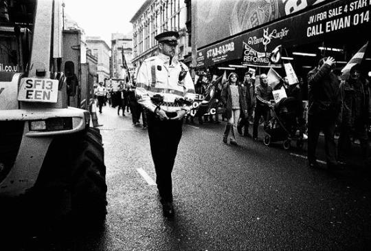 Ray Evans demonstration Glasgow