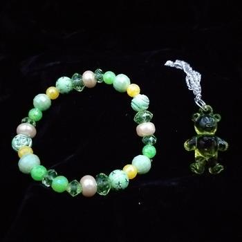 Bracelet and teddy pendant