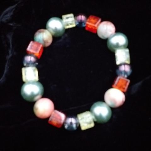 Orange and green bracelet