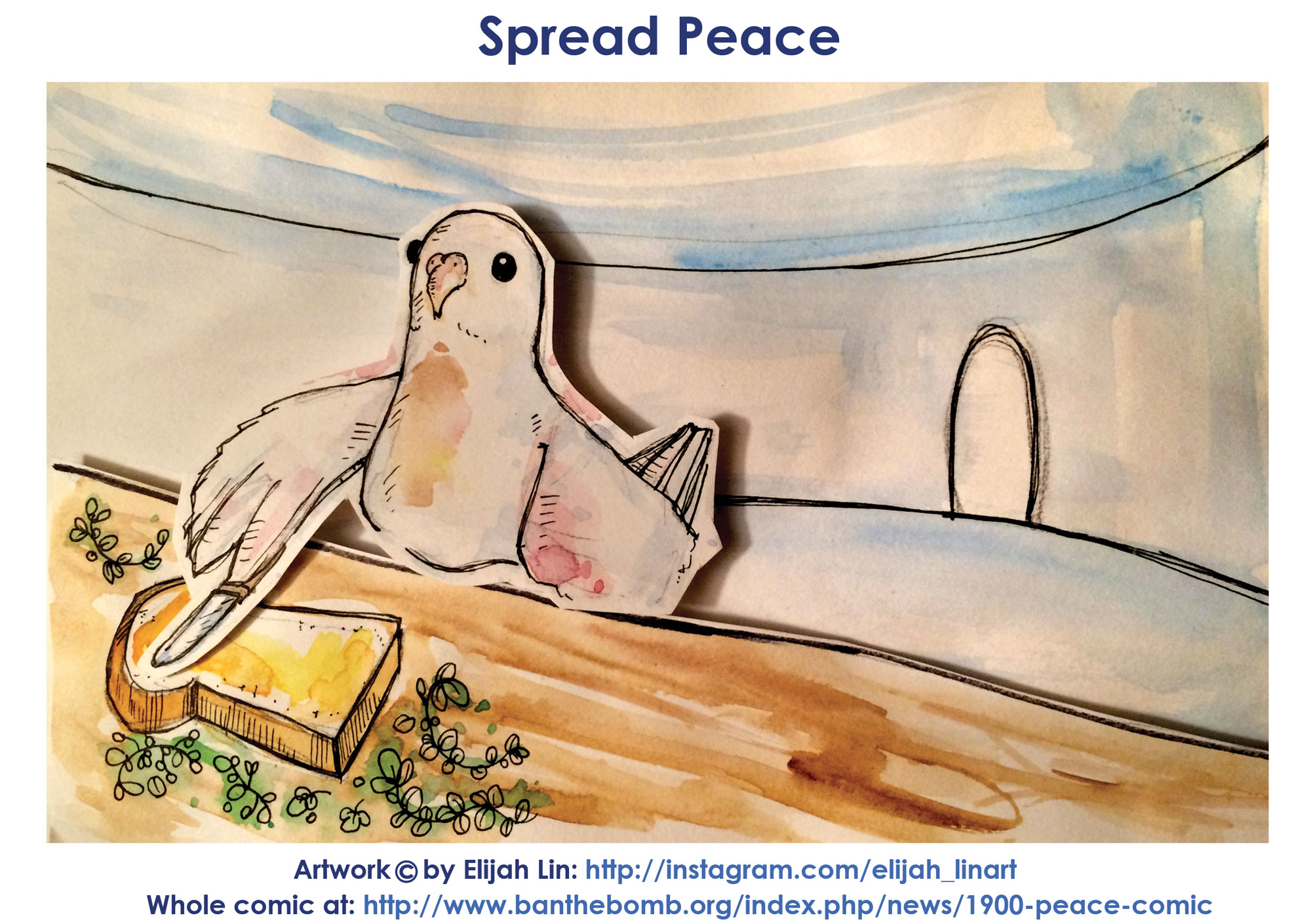 PEACE Piece Dove Tales
