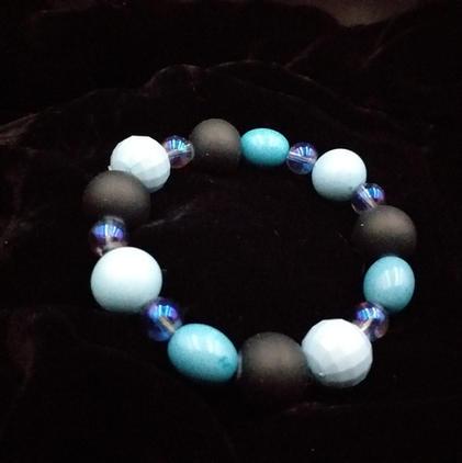 Blue and black bracelet