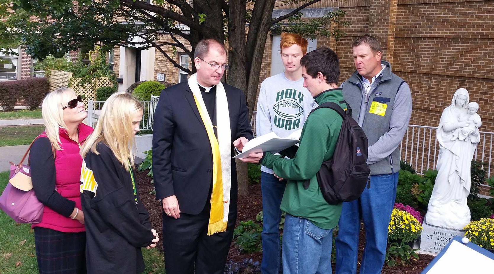 Bishop blesses Memorial Garden