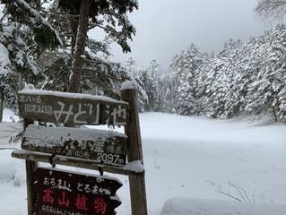 2/4は「八ヶ岳・しらびそ小屋」へスノートレッキング