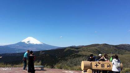 絶景スポッ「十国峠」から望む富士山