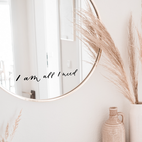 Mirror Self-Love Decal Affirmations