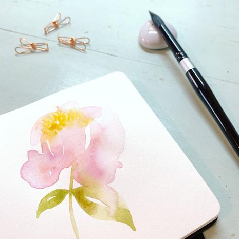 Flower details Watercolour