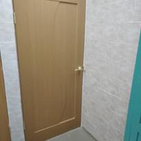 17.  Расширение дверного проёма в туалет