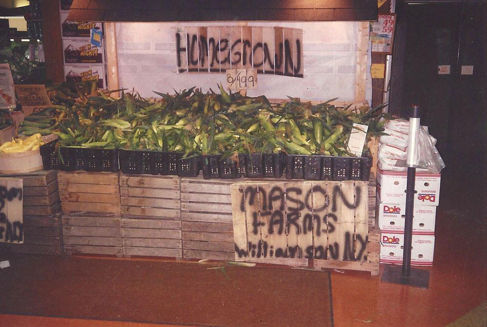 Mason Farm display at Wegmans