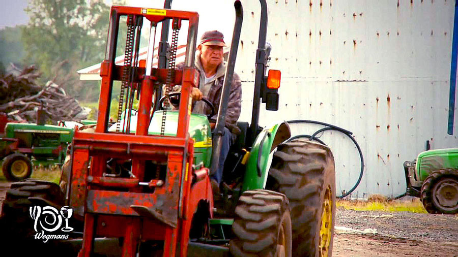 Paul Mason on a tractor