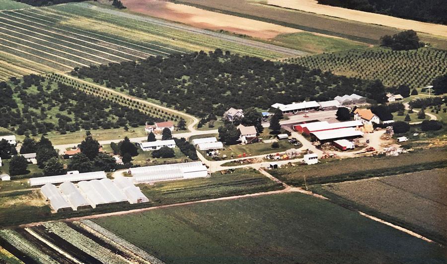 Aerial photo of Mason Farms