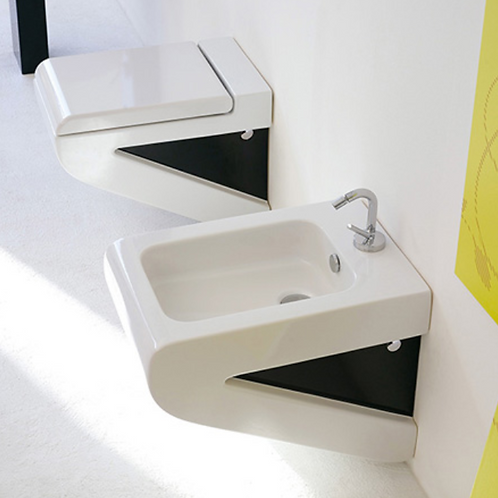 La Fontana White/Black WC/Bidet