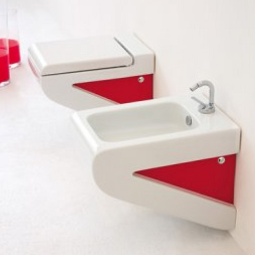 La Fontana White/Red WC/Bidet