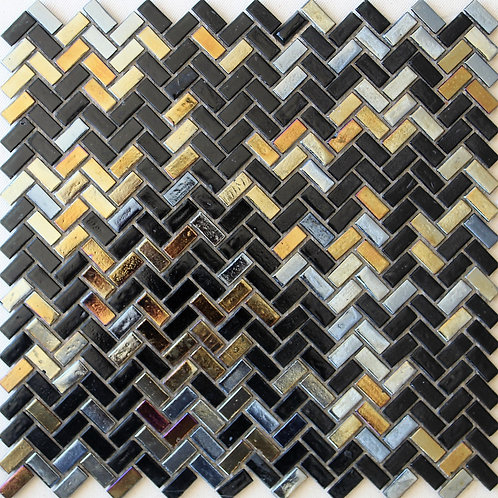 Glass Black/Gold mosaic