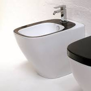Dial Floor mounted WC/Bidet white/black