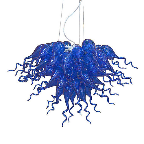 Blue Burst Chandelier