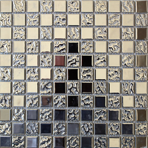 Silver Metl/Glass Mosaic