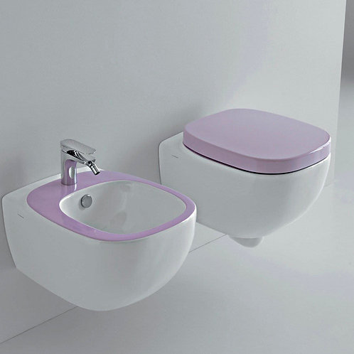 Dial Floor mounted WC/Bidet white/purple