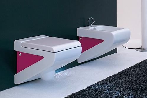La Fontana White/Pink WC/Bidet