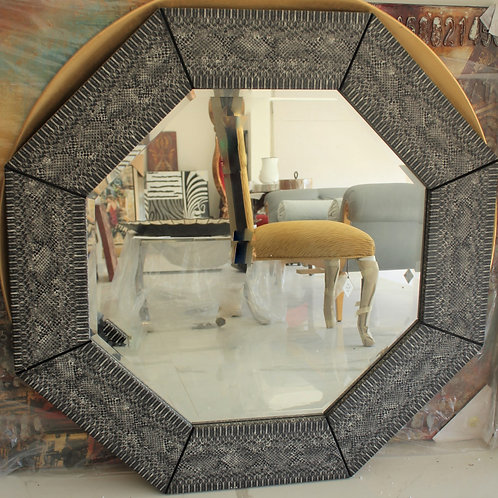 Leather Mirror