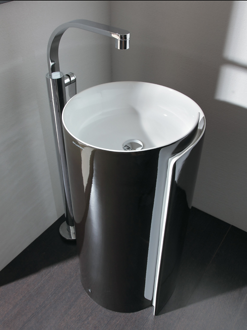 ROLL floor mounted Silver basin