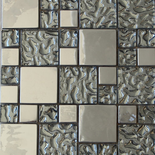 Metal/Glass mosaic