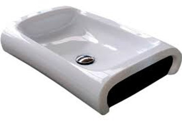 HI-Line White/Black basin