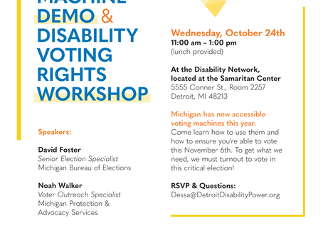 Accessible Voting Machine Demo& Disability Voting Rights Workshop