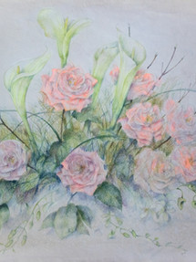 Wedding Bouquet Colored Pencil on Paper 1992
