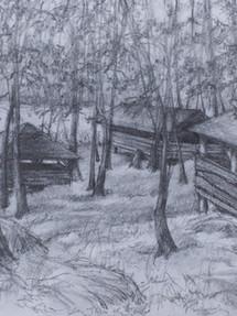 Three Abandoned Cabins at Harriman 1992