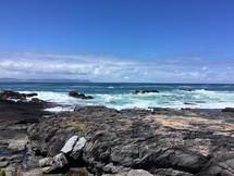 SOUTH AFRICAN COAST WHERE THE INDIAN OCEAN MEETS THE ATLANTIC OCEAN