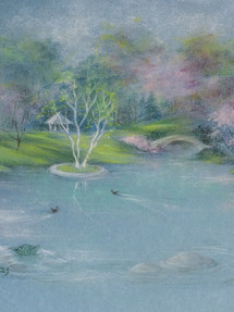 The Pond at Willow Tree Pastel 2020