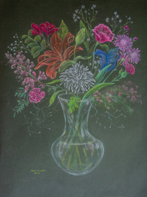 Floral Pastel on Paper 2012