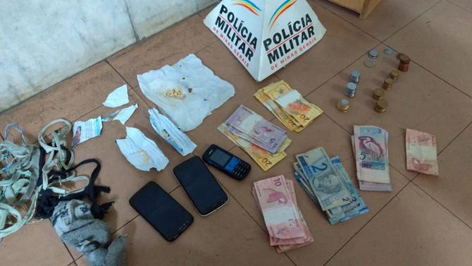 Autores de tráfico de drogas são presos pela Polícia Militar