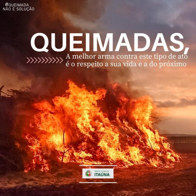 Prefeitura reforça e conscientiza a população para o combate às queimadas