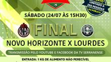 Final do Campeonato Itaunense de Futebol Bairro x Bairro terápúblico de até 250 pessoas