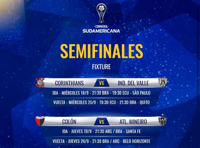 Conmebol define datas da Sul-Americana: Atlético x Colón será dias 19 e 26 de setembro