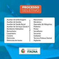 Prefeitura de Itaúna lança edital de processo seletivo simplificado
